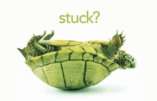 "Are you experiencing that feeling of being ""stuck""?"